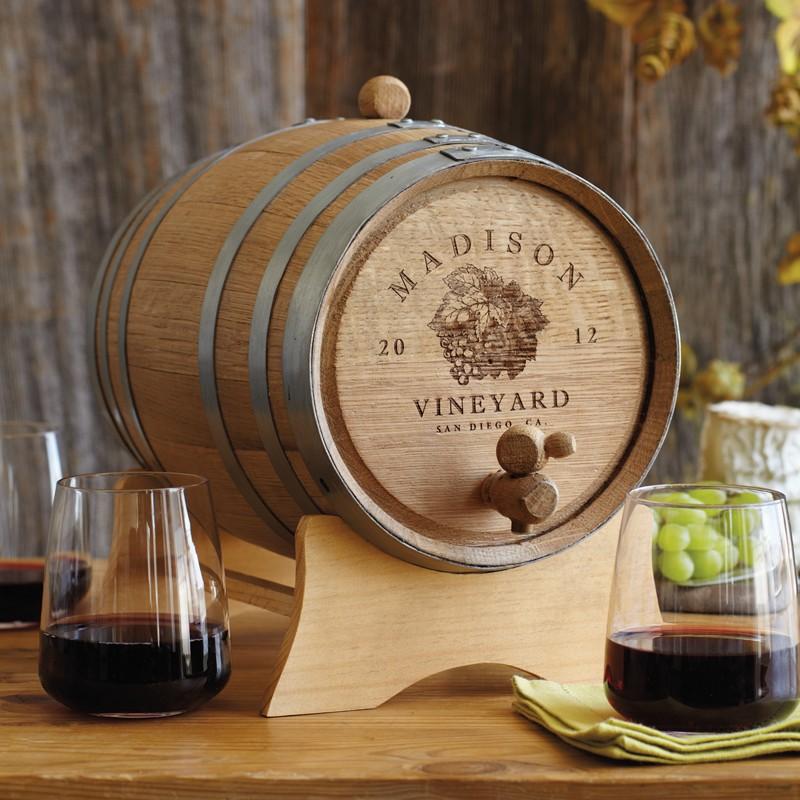 Personalized oak wine barrel  2