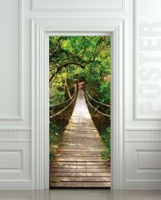 Thumb medium giant door sticker rope bridge tropic forest