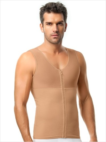 Men s abs slimming body shaper with back support  leo