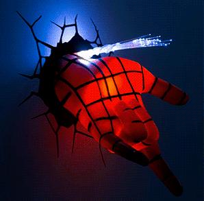 Superhero wall lights