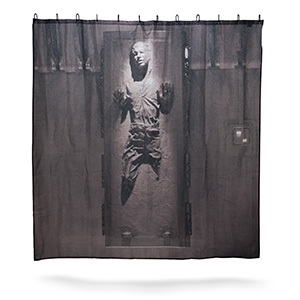 1bfb han solo carbonite shower curtain