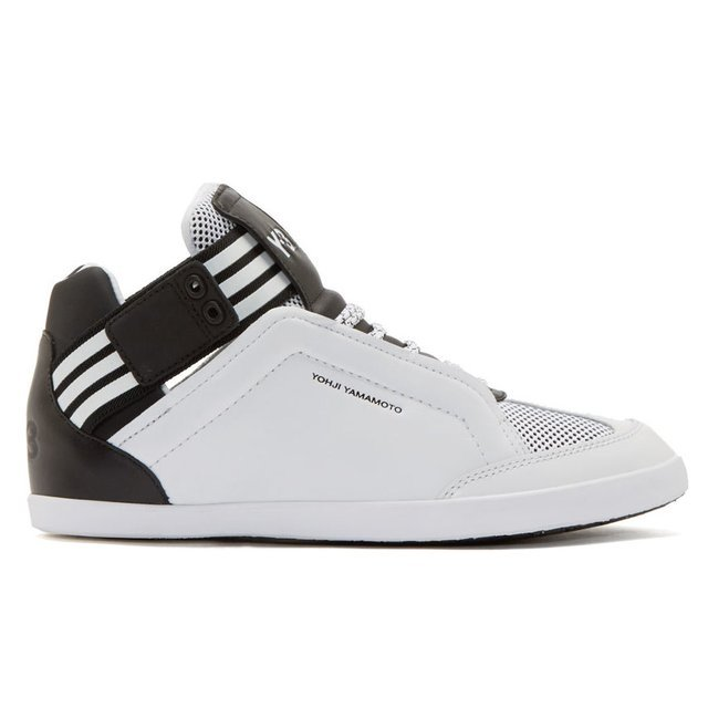White kazuhiri mid top sneakers by y 3