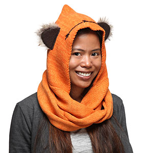 Ionp sw ewok knit hooded scarf