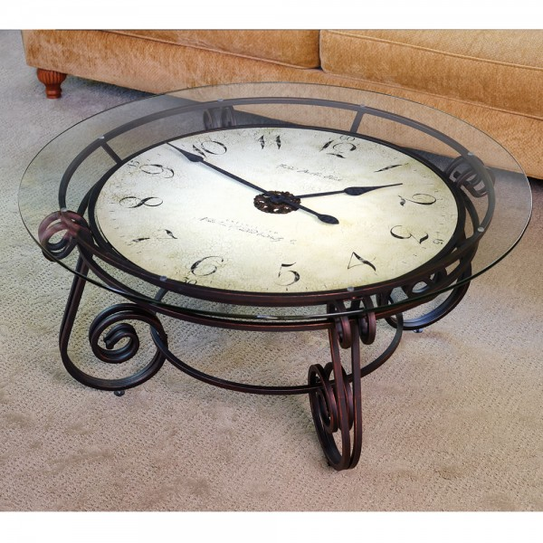 The analog clocktail table. 600x600