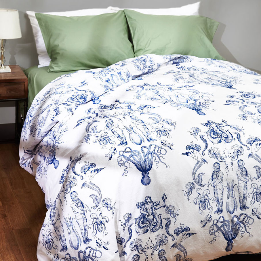 Maritime and tide duvet cover in full queen1