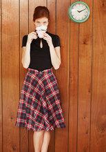 Thumb medium potluck hostess midi skirt in red