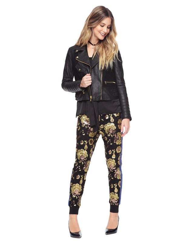 Embellished lace pant1