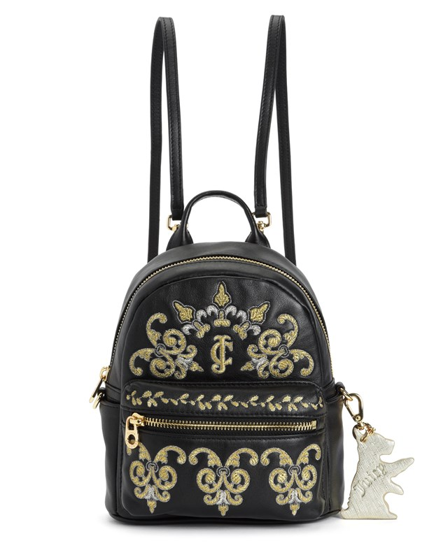 Solstice gold embroidery mini backpack