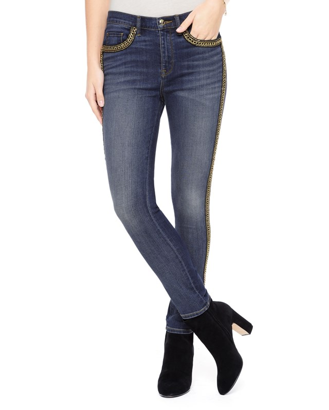 Chain trimmed skinny jean1