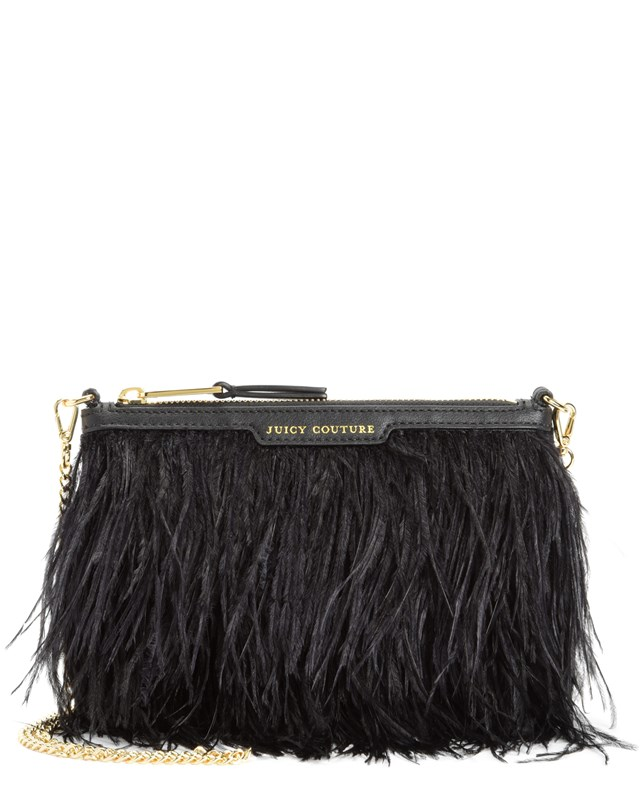 Luxe party feather crossbody