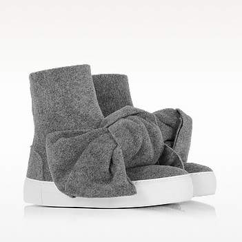 Melange gray high top bow sneakers2