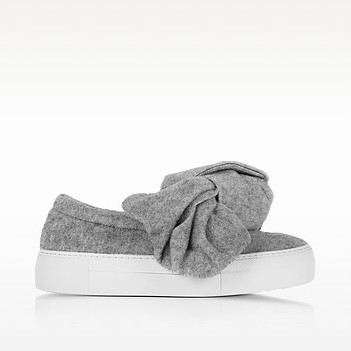 Joshua sanders bow gray wool blend slip on sneaker