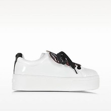 Thumb medium kenzo flower white pantent leather platform sneake