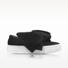 Thumb medium joshua sanders black at fabric bow slip on sneaker