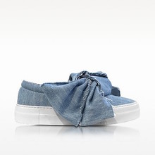 Thumb medium joshua sanders azure denim bow slip on sneaker
