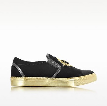 Balmain queen black velvet sneaker1