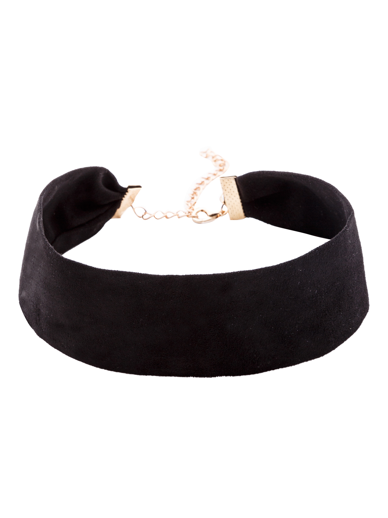Black suede simple wide choker necklace  1