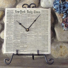 Thumb medium your new york times front page on marble clock