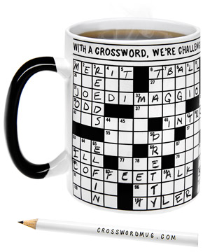 Solve crossword puzzles directly on the mug itself  2