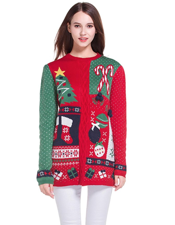 Women s christmas cute knitted tunic sweater girl pullover