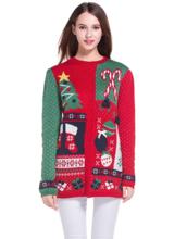 Thumb medium women s christmas cute knitted tunic sweater girl pullover