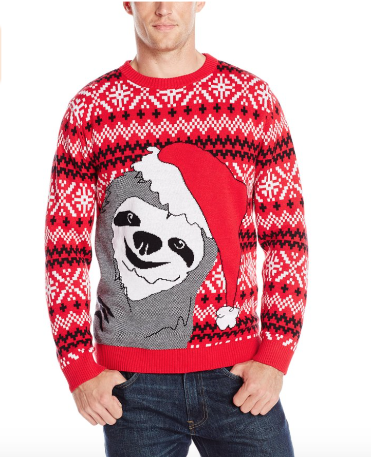 Alex stevens men s slothy christmas ugly christmas sweater