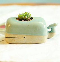 Thumb medium turquoise whale planter