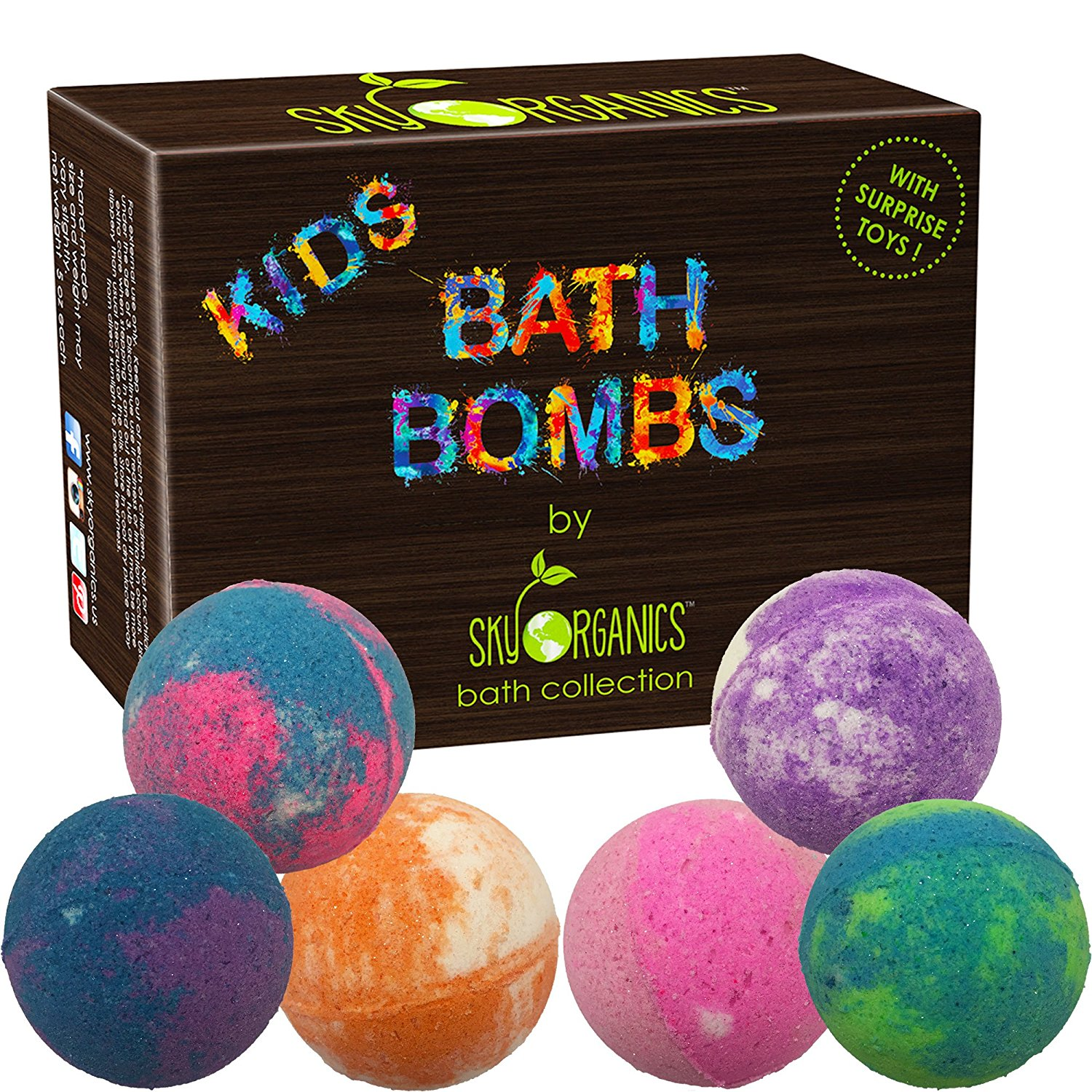 Kids bath bombs gift set with surprise toys4