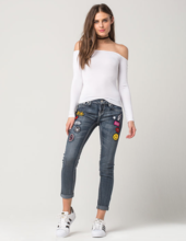 Thumb medium soundgirl cuff patch womens ankle jeans