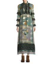 Thumb medium anna sui patchwork silk blend maxi dress
