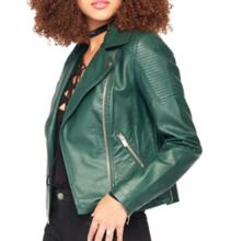 Thumb medium miss selfridge leatherette biker jacket
