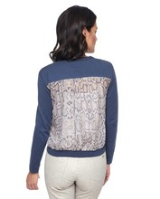 Thumb medium silk back monaco python cardigan