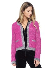Thumb medium fluffy multi colored cardigan