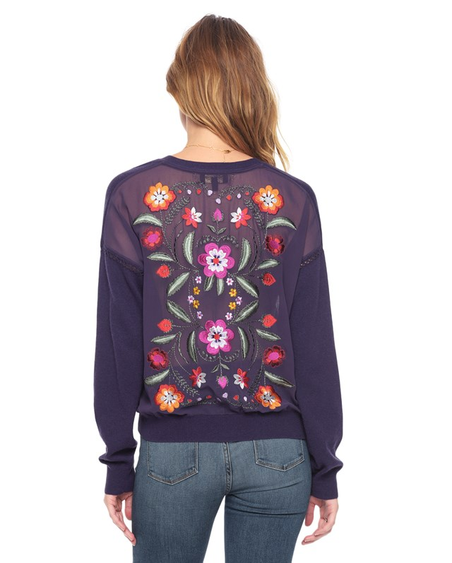Embroidered back cardigan1