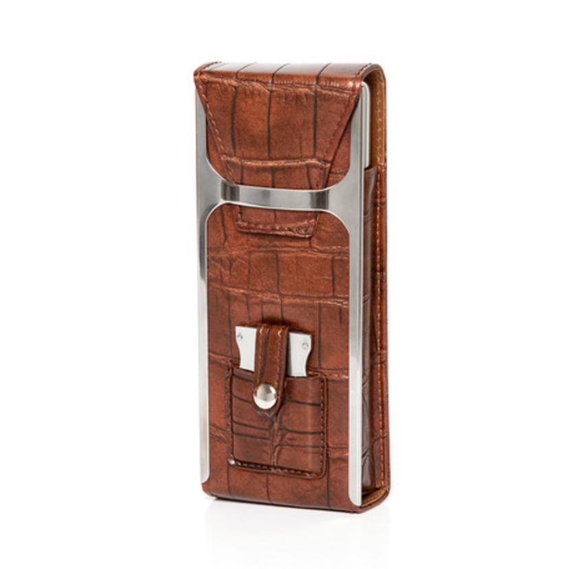 Travel flask and cigar holder