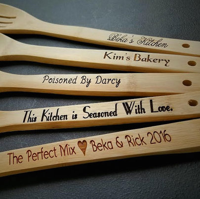 5 personalized kitchen utensils  gift for mom  spatula  engraved spoon  personalized gift  gift for grandma  gift for wife  housewarming