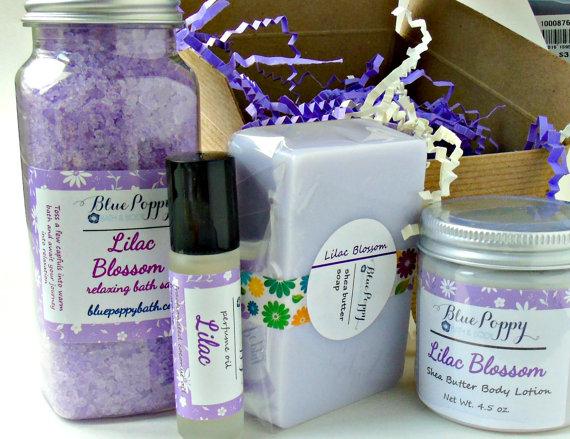 Lilac bath   body gift for mom