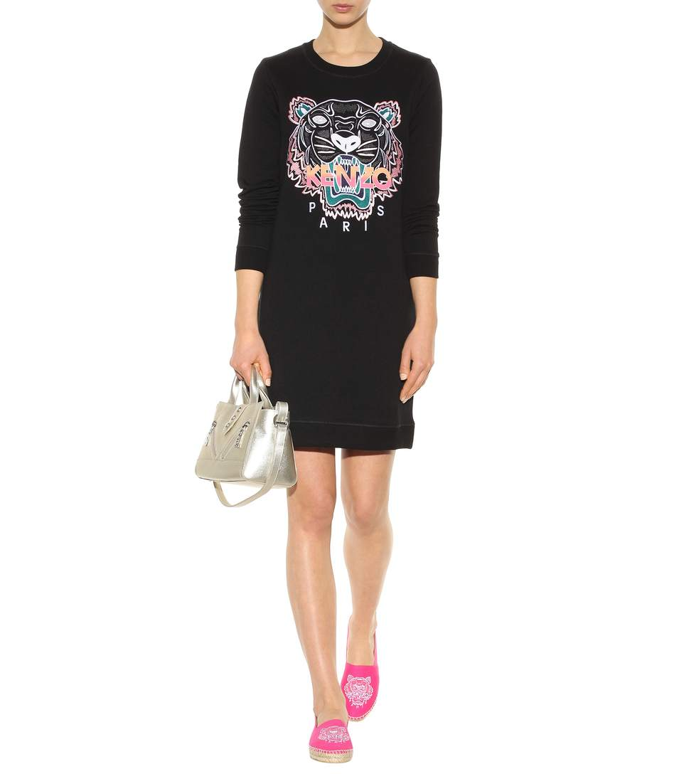 Kenzo embroidered cotton sweatshirt dress