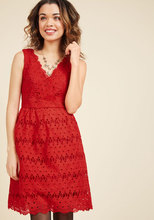 Thumb medium stately satisfaction lace dress in tomato