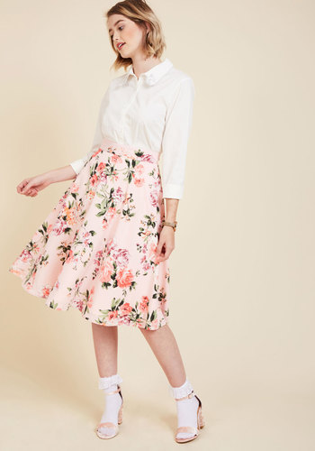 Bugle joy skirt in pink blossoms