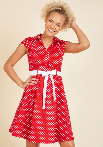 Hepcat soda fountain a line dress in cherry