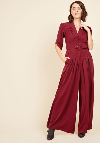 The embolden age jumpsuit in burgundy