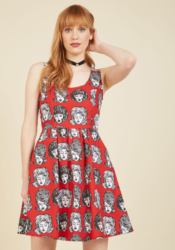 I m wiggin  out  a line dress