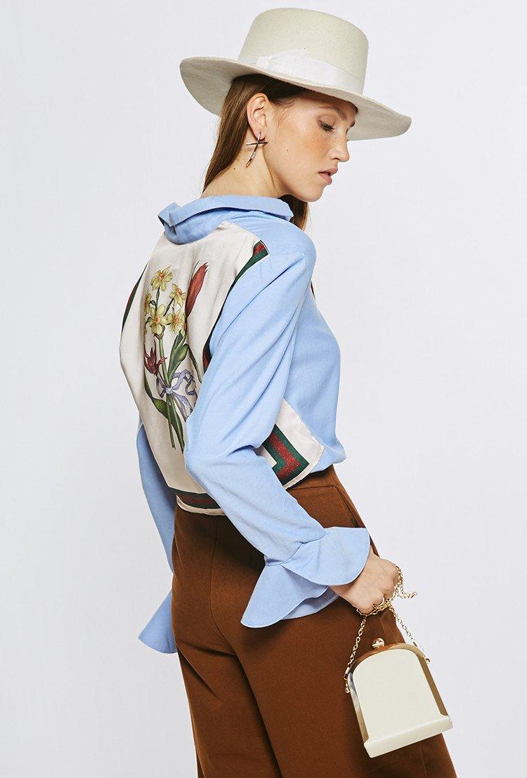 Floral back top tp1571