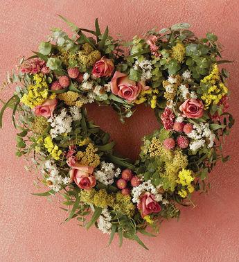 Valentine s day heart wreath