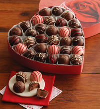 Thumb medium chocolate truffles in valentine s day box with rose design