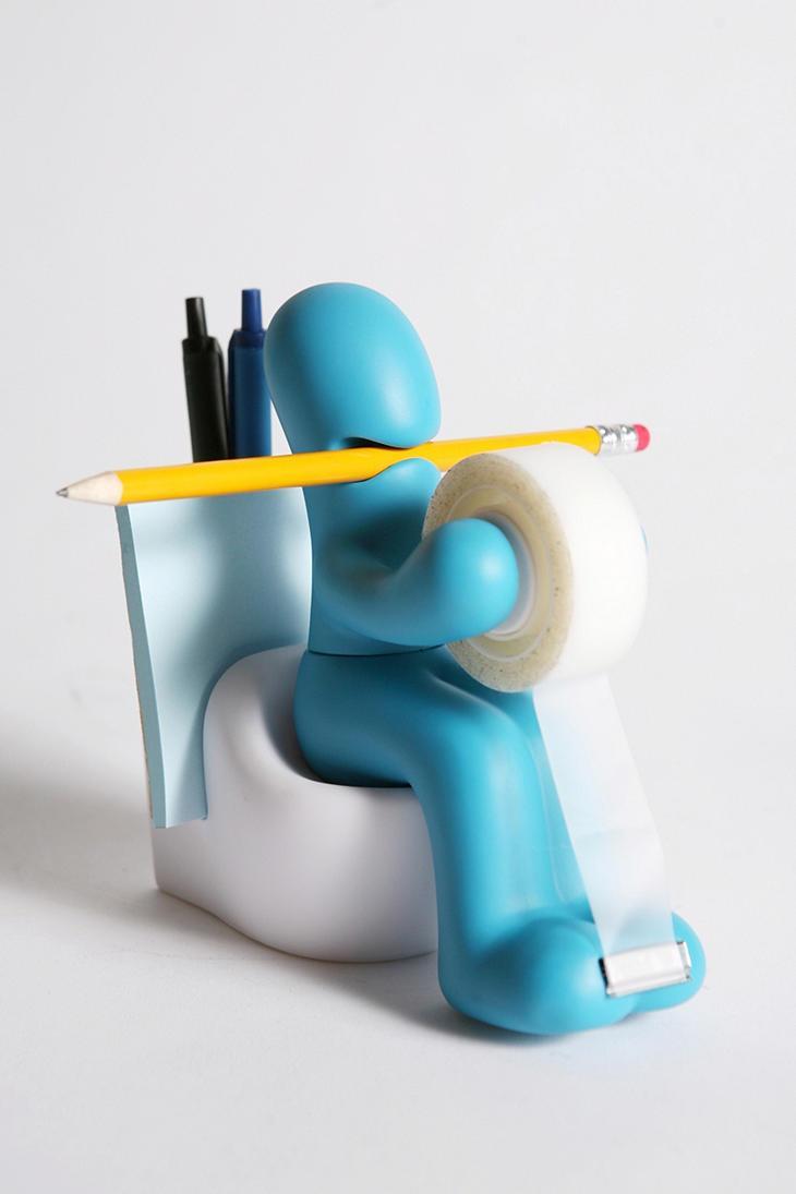 Supply station desk accessory holder