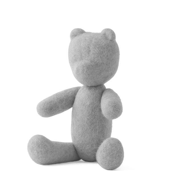 Menu woolen teddy bear   light grey