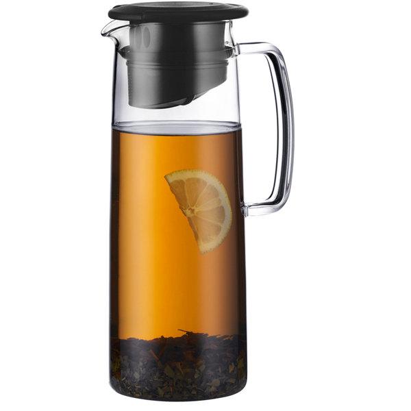 Bodum biasca ice tea jug   clear black