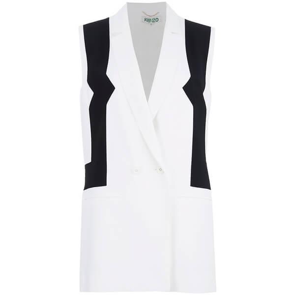 Kenzo women s sleeveless blazer   white